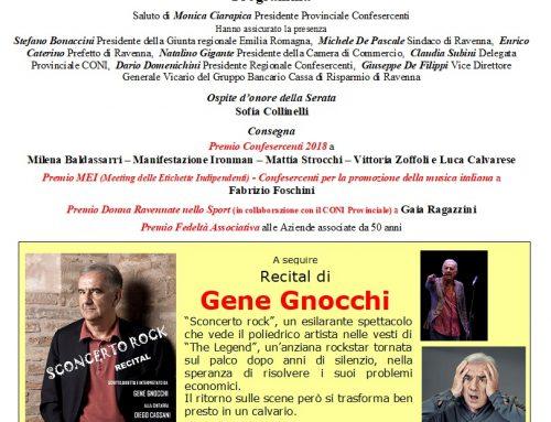 """Gene Gnocchi con il suo """"Sconcerto Rock"""" alla Serata Confesercenti del 5 dicembre"""
