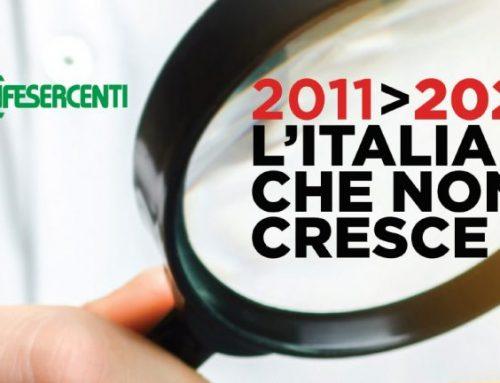 '2011>2020 L'Italia che non cresce', lo studio di Confesercenti su Commercio e consumi