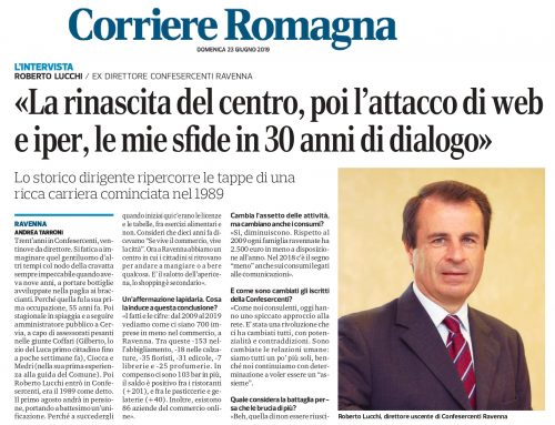 Dal Corriere Romagna di Domenica 23 giugno