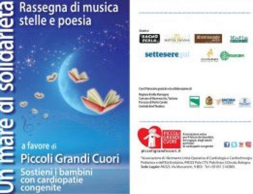 """""""Un mare di solidarietà"""": incontri, musica, poesia nei lidi ravennati in favore dell'Associazione Piccoli Grandi Cuori"""