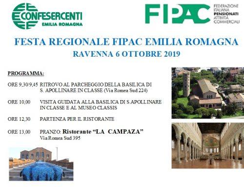 A Ravenna il 9 ottobre la Festa Regionale della FIPAC
