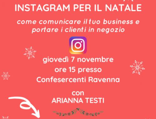 INSTAGRAM PER IL NATALE: a Ravenna un workshop di Confesercenti sulle strategie per lo shopping natalizio