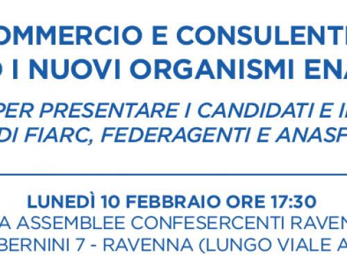 """Elezioni Enasarco: presentazione candidati e programma """"Fare presto e fare bene!"""" il 10 febbraio"""