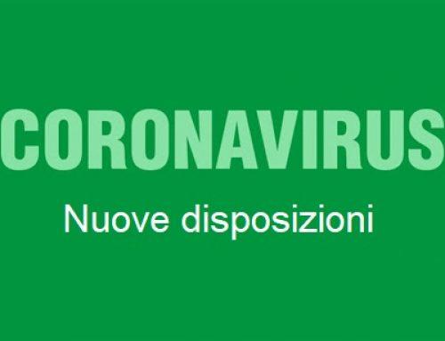 Coronavirus: gli aggiornamenti a seguito del DPCM 24 ottobre