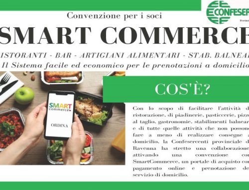 Confesercenti e Tippest – Progetto Smart Commerce per la provincia di Ravenna: un sistema integrato per le consegne a domicilio, il take away e la prenotazione dei tavoli