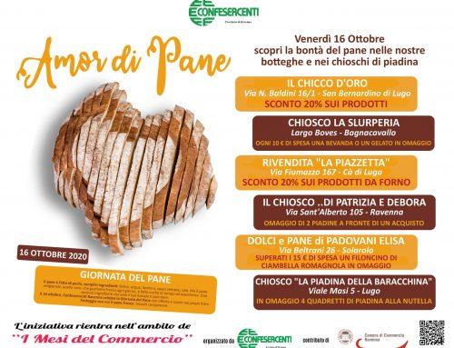 Venerdì 16 pane e piadina in festa con l'iniziativa Amor di Pane