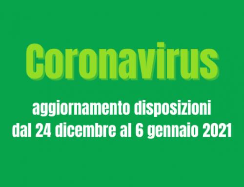 Restrizioni all'operatività delle attività durante le festività natalizie, dal 24 dicembre 2020 al 6 gennaio 2021