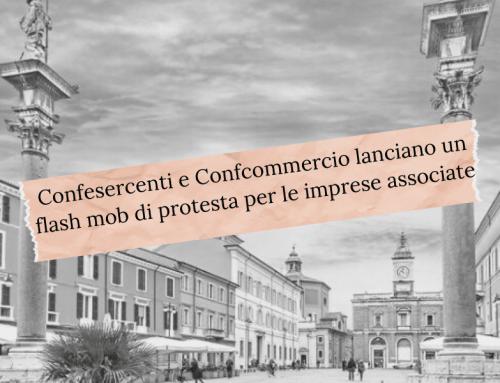 Confesercenti e Confcommercio lanciano un flash mob di protesta per le imprese associate della provincia di Ravenna