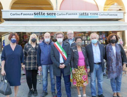 """Confesercenti Faenza ricorda Maria Magnani e la famiglia Liverani, tassello importante della storia del commercio """"della Piazza""""."""